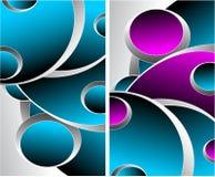 Två magentafärgade grå färg för blått görar sammandrag bakgrunder Arkivbilder