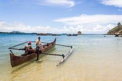 Två malagasy sjömän Arkivbilder