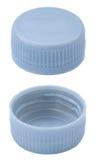 Isolerat försilvra plast- kapsyler Royaltyfri Fotografi
