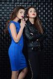 Två modeflickor Royaltyfria Bilder