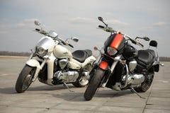 Två motorcyklar arkivfoton