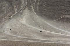 Två motorcyklar på den magnetiska kullen i Leh, ladakh, Indien, Asien Royaltyfri Fotografi