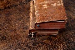 Två mycket gammala böcker Royaltyfria Bilder