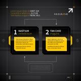 Två numrerade fyrkanter med olika alternativ i techno utformar Royaltyfria Foton