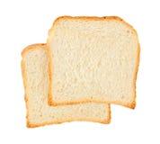 Två nya skivor av bröd royaltyfri fotografi