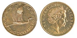 Två nyazeeländska dollar mynt Royaltyfria Foton