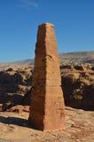 Två obeliskar, Petra Royaltyfri Fotografi
