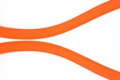 Två orange kurvor Royaltyfria Foton