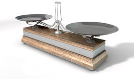 Två Pan Balance Scale royaltyfria bilder