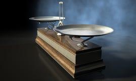 Två Pan Balance Scale royaltyfri foto