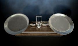 Två Pan Balance Scale royaltyfri fotografi