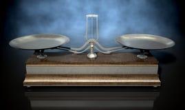 Två Pan Balance Scale royaltyfri bild
