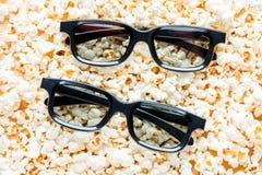 två par av närbildlögnen för exponeringsglas 3d royaltyfria foton