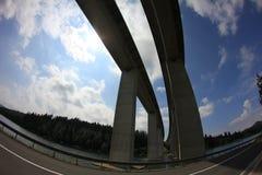 Två parallella broar Royaltyfri Fotografi