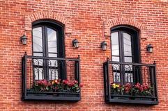 Två parar av franska dörrar Royaltyfri Fotografi
