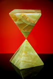 Två pyramider av dekorativ sten Royaltyfria Foton
