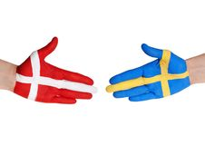 Danmark och sweden Royaltyfria Foton