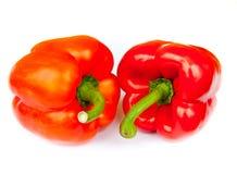 Två röda peppar, Royaltyfri Foto