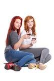 Två rödhårig mankvinnor Arkivfoton