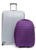 Två resväskor för att resa Arkivfoton