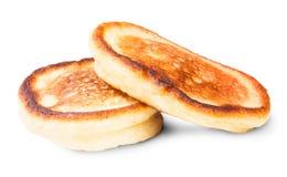 Två söta pannkakor Arkivbilder