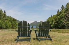 Två sceniska stolar Arkivfoto