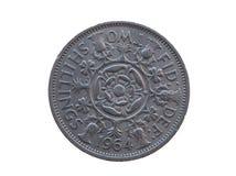 Två shillingar mynt Royaltyfri Foto