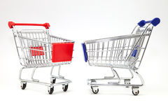 Två shoppa vagnar Royaltyfri Foto