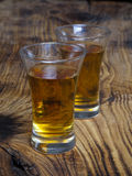 Två Shots av Whiskey arkivbild