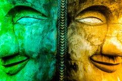 Två signaler av buddisten arkivfoto