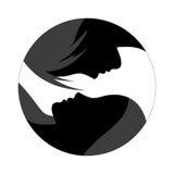 Två silhouettes Royaltyfria Foton