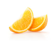 Två skivor av apelsin Arkivbilder