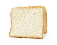 Två skivor av rostat brödbröd fotografering för bildbyråer