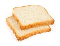 Två skivor av wheaten rostat brödbröd royaltyfri foto