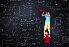 Två skolbarn som lär Royaltyfri Bild