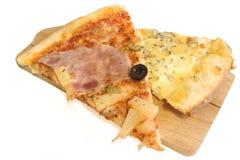 Två sorter av pizza Royaltyfria Foton