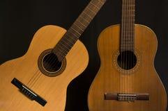 Två spanska gitarrer Arkivbild
