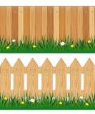 Två staket från träd Arkivbild