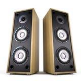 Två stora ljudsignal högtalareaskar Royaltyfri Bild