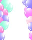 Två stränger av ballonger royaltyfri illustrationer
