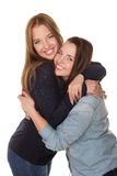 Två systrar, kopplar samman Royaltyfri Foto