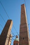 Två torn - bologna Arkivbilder