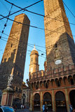 Två torn i bolognaen Royaltyfri Bild