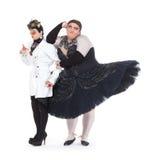 Två transvestit som tillsammans utför Fotografering för Bildbyråer