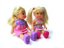 Två trevliga dockor Arkivbild