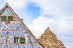 Två tyska hustak mot himmel Royaltyfria Bilder