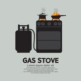 Två ugnar med gas royaltyfri illustrationer