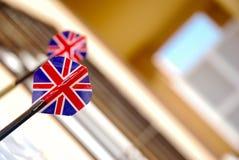 Två UK-pilar arkivfoto