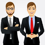 Två unga affärsmän Arkivbilder
