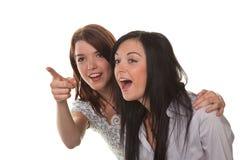 två unga kvinnor Royaltyfria Bilder